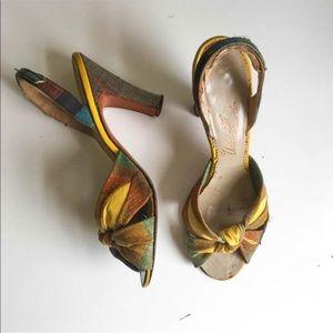 Vintage 1940s Shoes / Pumps / Heels / Shoes size 5